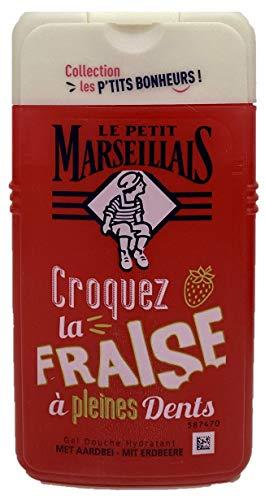 Le petit Maresellais - Duschgel Erdbeere Croques la FRAISE a´pleines Dents, 250ml, pH-neutral für die Haut, Dermatologisch getestet