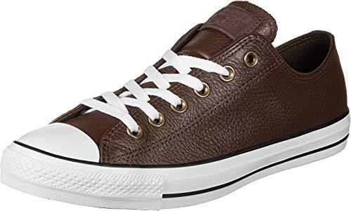 Converse Chuck Taylor All Star Leather, Zapatillas Deportivas. Hombre, El Dorado-Reloj de Pared, Color Blanco y Negro, 38 EU