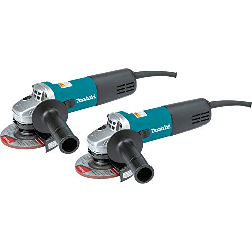"Makita 9557NB2 4-1/2"" Angle Grinder, with AC/DC Switch (2 Pack)"