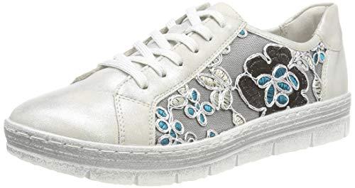 Remonte Damen D5804 Sneaker, Mehrfarbig (Frost/Tuerkis-Schwarz 91), 40 EU