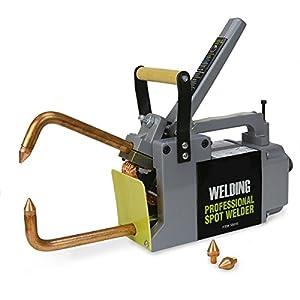 9TRADING Electric Spot Welder 1/8Inch Single Phase Portable Handheld Welding tip Gun 220 V,...