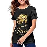 Womens T-Shirts Tina The Tina Turner Musical Women's Fashion Sports T-Shirt Black