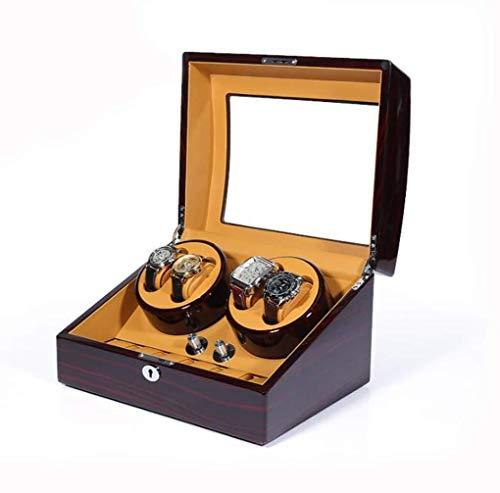cajas de cartón para embalar 4+6 relojes con 5 modos, devanadera automática de reloj con motor silencioso Mabuchi, operación de bajo ruido caja de embalaje (color: A)