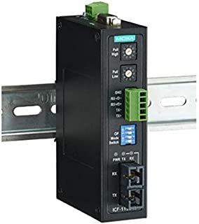 Industrial RS-232/422/485 to Fiber Optic Converter, ST Multi-mode, with 2kV 2-way Galvanic Isolation, -40 to 85°C, IECEx Certification Approval