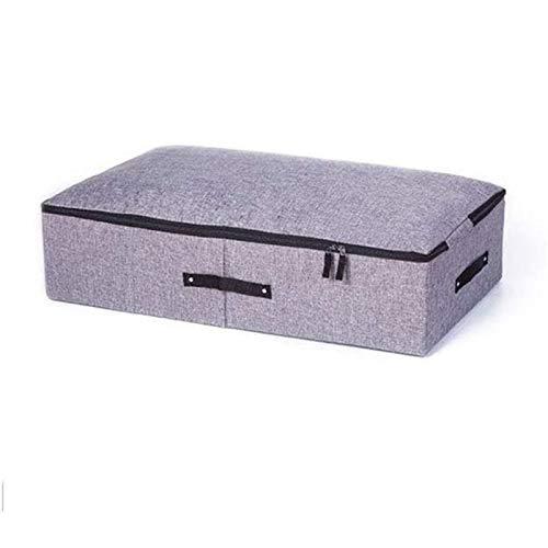 JIAHU Caja de almacenamiento para ropa, colcha, mesita de noche, color gris, 1 unidad
