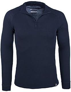 Mountain Warehouse Merino Mens Long Sleeved Thermal Baselayer Top - Breathable Jumper, Half Zip, Comfortable Sweater, Warm...