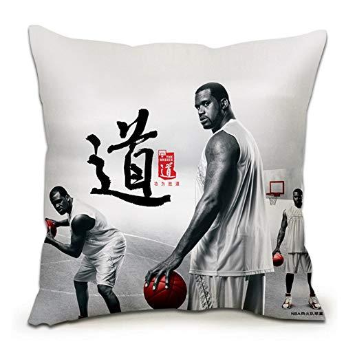 Cojín de la NBA con diseño de abanicos de Calor, cojín de impresión de doble cara, decorativo para sala de estar, dormitorio, sofá, coche, funda (funda + núcleo) almohada (tamaño: 55 x 55 cm)