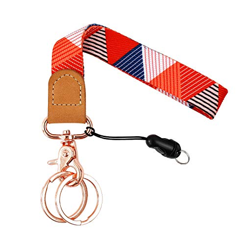Wrist Lanyard for Keys, Sturdy Wristlet Keychain Hand Strap Key Chain Holder for Wallets, Cell Phones, Cameras, USB (WK02)