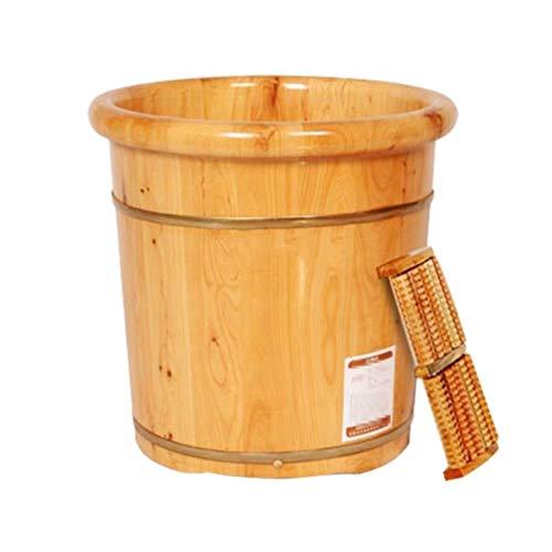 Lyrzuyu Spa voor voeten en benen, wastafel van dik en robuust hout, voor pedicure en massage: perfect voor het inweken van de voeten