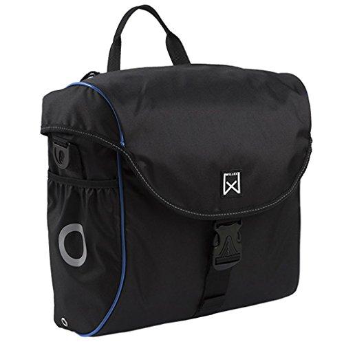 Willex Fahrradtasche 19 L Schwarz Blau Fahrrad Gepäckträgertasche Gepäcktasche