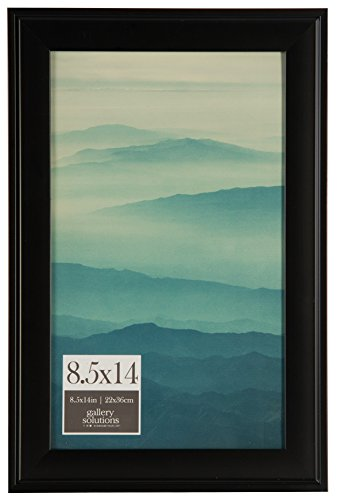 Pinnacle Frames and Accents 8.5x14 Black Digital Photo Frame, 8.5