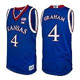 Kansas Jayhawks Devonte' Graham #4 Retro Brand Authentic Basketball Jersey (L)