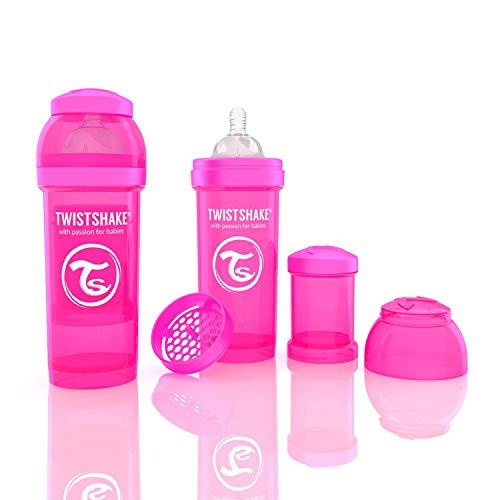 Twistshake 78007 Anti-Colic Babyflasche, 260 ml/9 oz, rosa