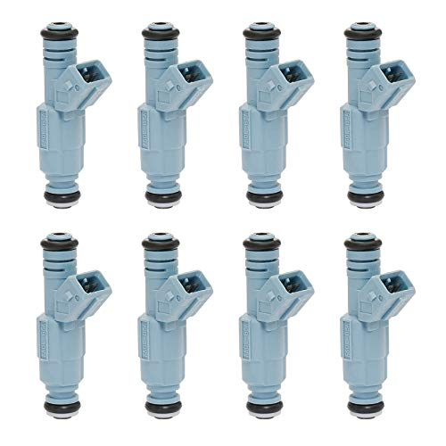 Fuel Injector 24LB 4 Holes 8Pcs | Replacement for 5.2 5.9 Dodge Dakota Durango Ram Chevy Camaro Ford F250 F350 Excursion Mustang Pontiac GTO & more | Replace# 0280155715, 0280150947, 0280150965