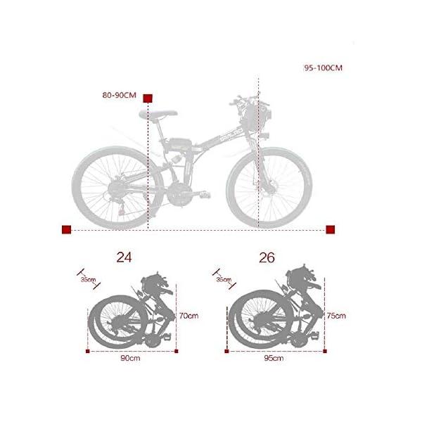41YN4Tdf+PL. SS600  - Knewss 26 Mx300 zusammenklappbares Elektrofahrrad Shimano 7-Gang E-Bike 48 V Lithiumbatterie 350 W 13ah Motor Elektrofahrrad für Erwachsene