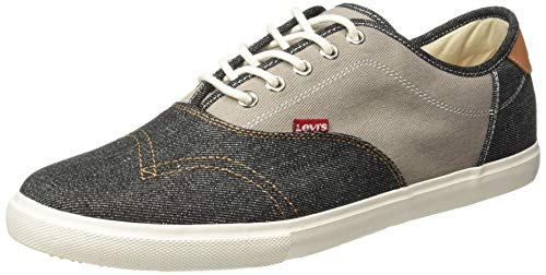 Levi's Men's Ming Regular Black Sneakers-10 UK/India (44 EU) (38099-1329)
