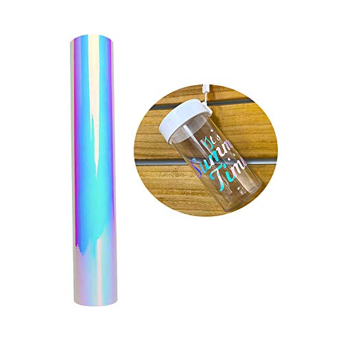 Holographic Opal White Chrome Craft Vinyl Sheet 12x60inch (1x5ft) for Cameo and Other Craft Cutters for Decoration