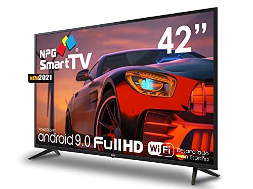 "NPG 430L42F 2021 – 42"" Full HD Smart TV Android 9.0, Procesador Quad Core, WiFi, DVB-T2 C, PVR, Screen Mirroning, Smart TV Multilenguaje"