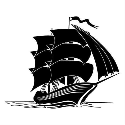 RUIRUI Retro Marine Transport Schiff Auto Aufkleber Spaß Motorrad Vinyl Aufkleber Schwarz 17,7 * 14,3 cm