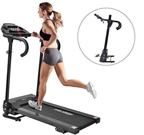 DuraB Elektrisches Laufband Klappmotorisierte Lauf-Jogging-Laufmaschine für zu Hause│12 Vorprogramme │98% zusammengebaut (schwarz)