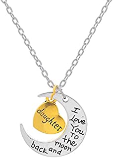 Daughter Gifts Heart Pendant Necklace Daughter Jewelry Graduation Birthday Christmas Gifts for Daughter from Mom Father