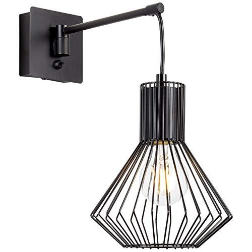BRILLIANT lamp Dalma wandlamp zwenkbaar zwevend mat zwart1x A60, E27, 60W, geschikt voor standaardlampen (niet inbegrepen) |Schaal A ++ tot E |Met tuimelschakelaar