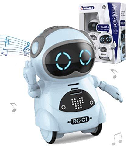 Toy Lob Pocket Robot, Communication Robot, Smart Robot, Mini Robot, Interactive, Dance, Music, Light, English Language Compatible, Japanese Instruction Manual Included (Blue)
