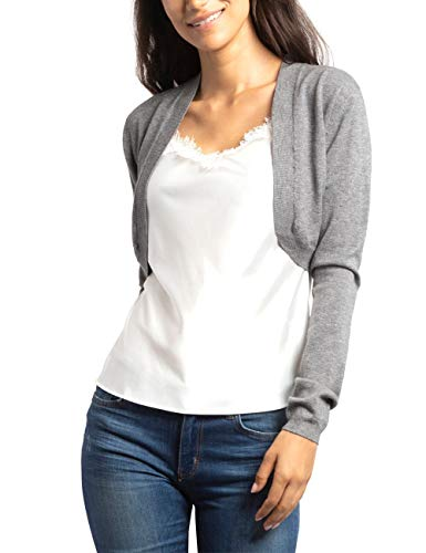 APART kuschelweiche Damen Jacke, Strickjacke, Strick-Bolero, verschlusslos, mit Kaschmir-Anteil, Kurze Form