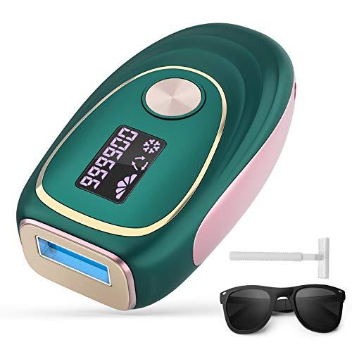 IPL Geräte Haarentfernung Laser Haarentfernungsgerät Eiskühlsystem - Dauerhafte Schmerzlos Haarentfernung Professioneller für Körper, Gesicht, Bikini-Zone und Achseln enthaarung 999,900 Blitze