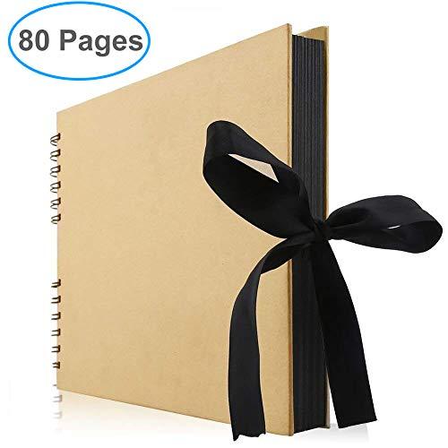 Gotideal DIY Scrapbook Album Craft Paper Wedding and Anniversary Photo Album Family Scrapbook,DIY Accessories and Scrapbooking Supplies,40 Sheets(Yellow)