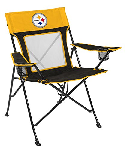 Rawlings NFL Game Changer Large Folding Tailgating and Camping Chair, with Carrying Case, Pittsburgh Steelers , Yellow