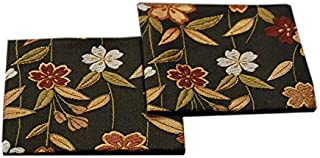 SHINSENDO KIMONO COASTER Japanese traditional fabrics Kinran 2 sheets set (Pattern name: Sakura)