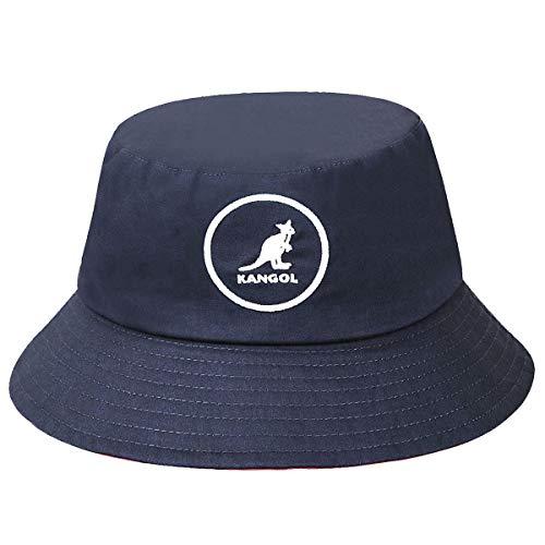 Kangol Unisex Cotton Bucket Fischerhut, blau (Marineblau), Large