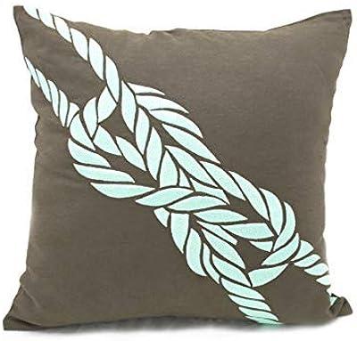 Amazon.com: Nautical decorativo Throw almohada Taupe café ...