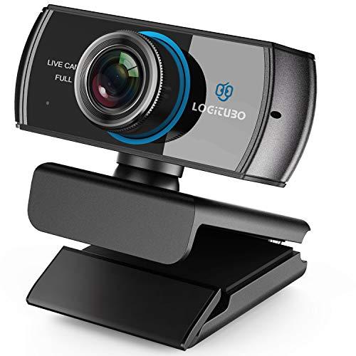 LOGITUBO HD Webcam 1080P Telecamera Live Streaming con Doppio Microfono Web...