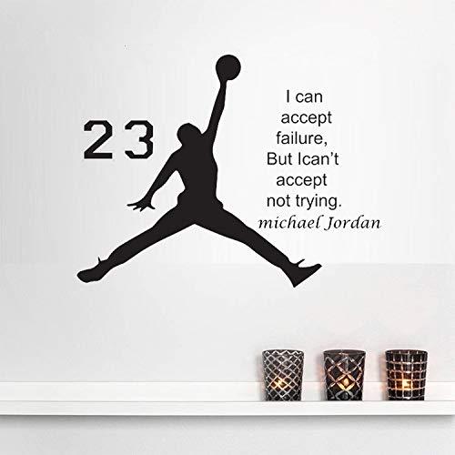 Pegatinas de pared, pegatinas de pared con tema deportivo, pegatinas de estrellas de baloncesto para el hogar, decoración de la escuela, regalos para niños, amantes del baloncesto, 55x70cm