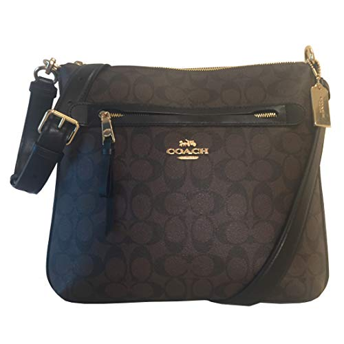 Coach F77885 Mae Signature Zip Large Crossbody Bag