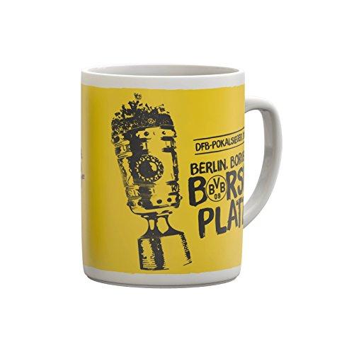 Borussia Dortmund BVB Tasse zum DFB POKALSIEG kompatibel + Sticker Dortmund Forever, Mug, Kaffeetasse, Kaffeebecher