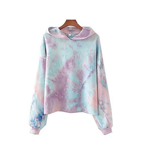 CALLA DREAM Girls Hoodies Cute Tie Dye Long Sleeve Fashion Sweatshirts Women's Pullover Lavender