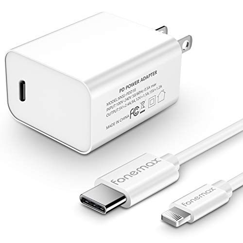 SKYLMW Fast Charger Compatible with iPhone 12 18W PD USB C Wall Charger with 3.93ft USB C to Lightning Cable MFi Certified Compatible with iPhone Xr Xs Max X 8 Plus iPod iPad Pro