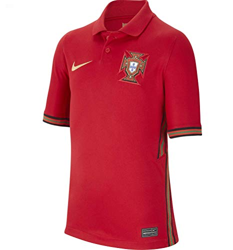 NIKE Fpf Y Nk BRT Stad JSY SS Hm Camiseta de Manga Corta, Unisex niños, Gym Red/Metallic Gold, S