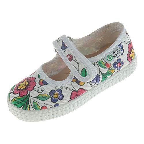 Natural World Schuhe für Babys Mary Jane Halbschuh Blanco W56042 (22 EU)