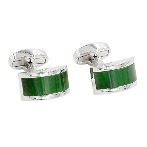Manschettenknöpfe mit grün Smaragd Stein | 5 Jahre Garantie | Mit Geschenkschachtel | Qualität Manschettenknöpfe | Manschettenknöpfe Zubehör