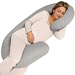 Leachco Snoogle Chic Jersey - Best Pregnancy C-Shaped Pillow