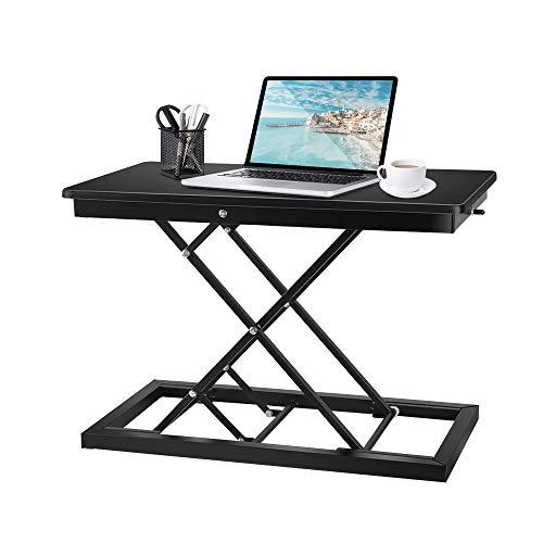 Kacsoo Mesa de pie ajustable en altura, convertidor de escritorio de pie de 23 pulgadas, totalmente montada, para ordenador portátil o monitor de ordenador