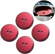 Dewhel Jack Pad Adapter Billet Anodized Red Aluminum Floor Jack For Corvette C7/C6 Premium bolt on Jack Points - 4 pack
