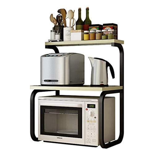 PYROJEWEL Estante de la Cocina de microondas Horno de Carro Lixin 2tier 304 de Acero Inoxidable de Alta Temperatura de la Resistencia Alta Estabilidad de Salud y Protección Ambiental fácil de Limpiar