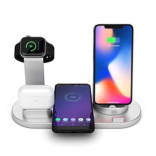 Lopnord 3 in 1 laadstation Dock voor iPhone AirPods iWatch, Qi snelle, draadloze laadstation standaard voor iPhone 8 X XR XS en Samsung Note8 S8 S9 oplader houder voor iWatch Air Pods