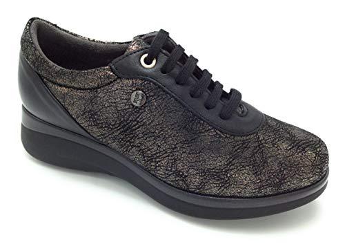 PITILLOS 5780 Zapato Cordones Lycra fantasía Negro
