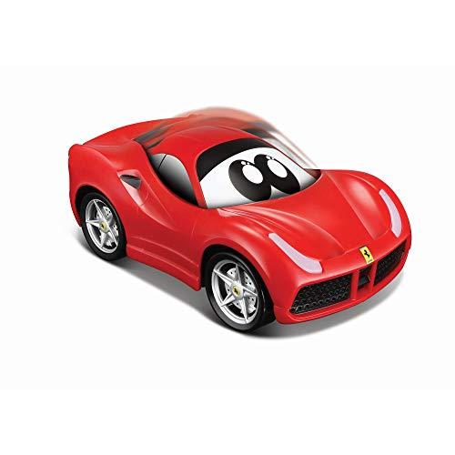 Bauer Spielwaren 16-81607 Ferrari 488 GTB - Eco Drivers Spielzeugauto mit Selbstaufladung durch Press & Pull, Rot